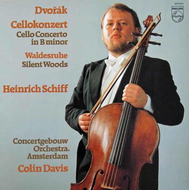 シフ&デイヴィスのドヴォルザーク/チェロ協奏曲ほか 蘭PHILIPS 3110 LP レコード