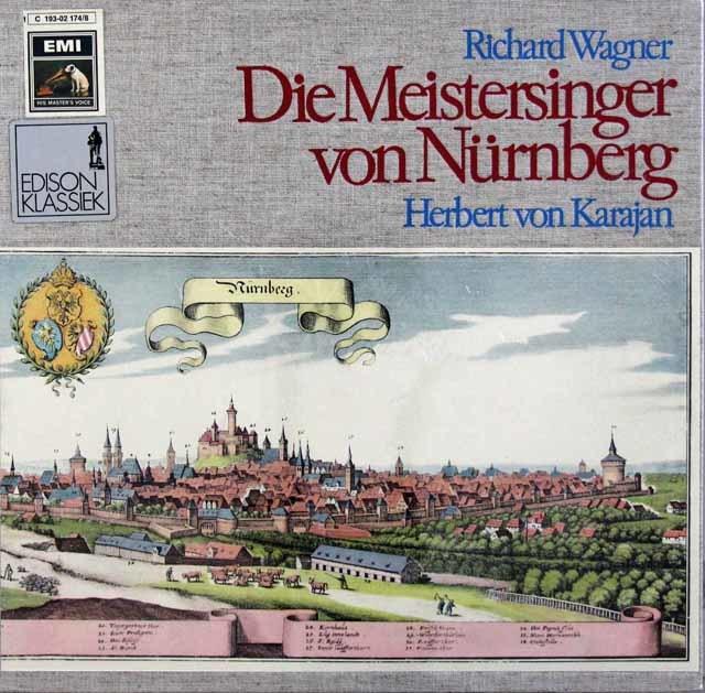 【未開封】 カラヤンのワーグナー/「マイスタージンガー」 独EMI 3110 LP レコード