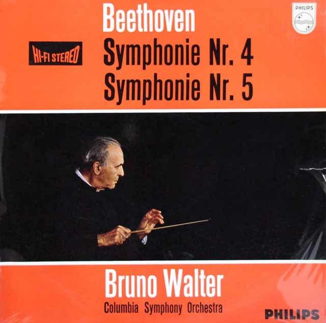 【オリジナル盤】ワルターのベートーヴェン/交響曲第4&5番「運命」 蘭PHILIPS 3111 LP レコード