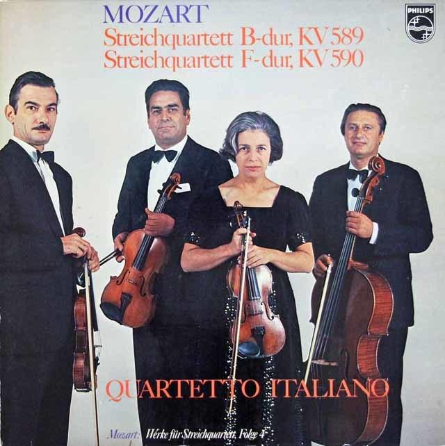 イタリア四重奏団のモーツァルト/弦楽四重奏曲第22 & 23番 蘭PHILIPS 3111 LP レコード