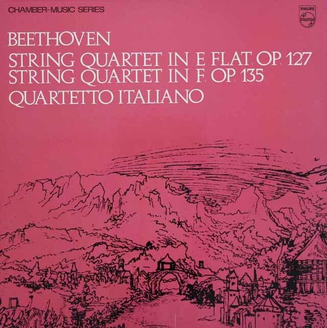 イタリア四重奏団のベートーヴェン/弦楽四重奏曲第12 & 16番 蘭PHILIPS 3111 LP レコード