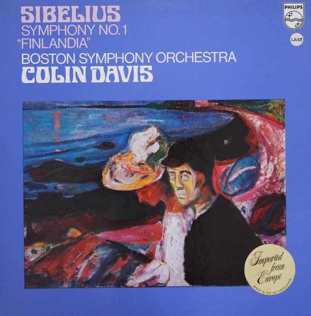 デイヴィスのシベリウス/交響曲第1番&「フィンランディア」  蘭PHILIPS 3111 LP レコード