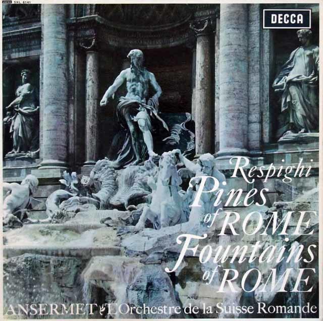 【オリジナル盤】アンセルメのレスピーギ/ローマの松 & 噴水 英DECCA 3111 LP レコード