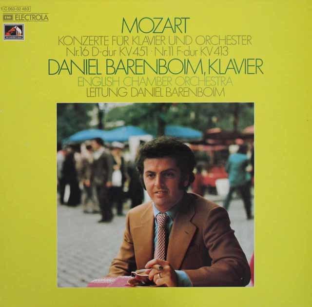 バレンボイムのモーツァルト/ピアノ協奏曲第11&16番 独EMI 3111 LP レコード