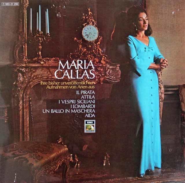 カラスのベルリーニ&ヴェルディ/オペラアリア集    独EMI 3111 LP レコード