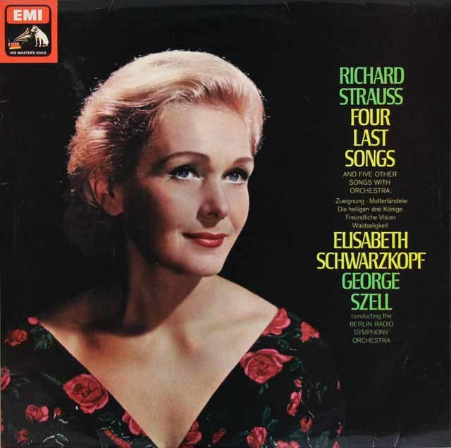 シュヴァルツコップ&セルのR.シュトラウス/4つの最後の歌ほか 英EMI 3111 LP レコード