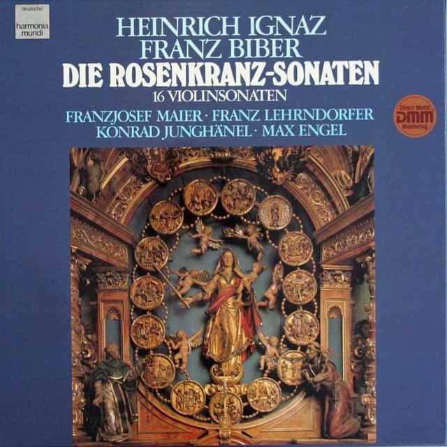 マイアーらのハインリヒ・ビーバー/「ロザリオのソナタ」全集   独HM 3111 LP レコード
