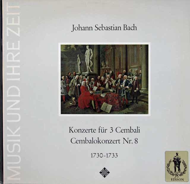 レオンハルトのバッハ/チェンバロ協奏曲第8番ほか 独TELEFUNEKEN 3111 LP レコード
