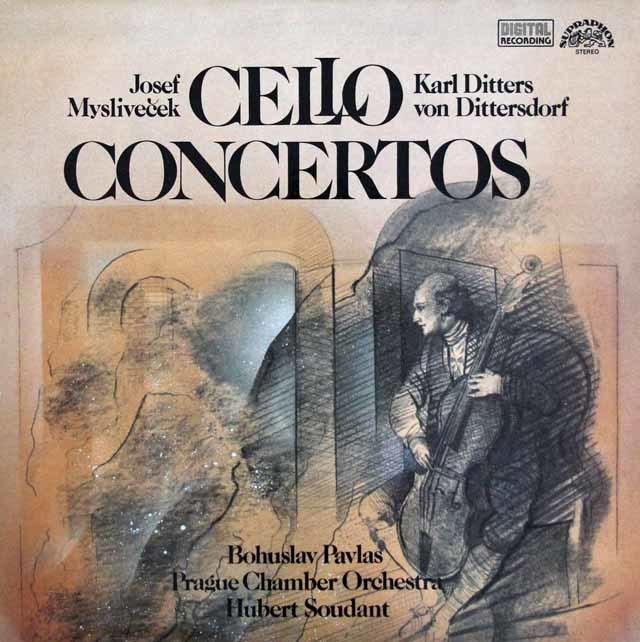 パヴラスのミスリヴェチェク&ディッタースドルフ/チェロ協奏曲 チェコSUPRAPHON 3111 LP レコード
