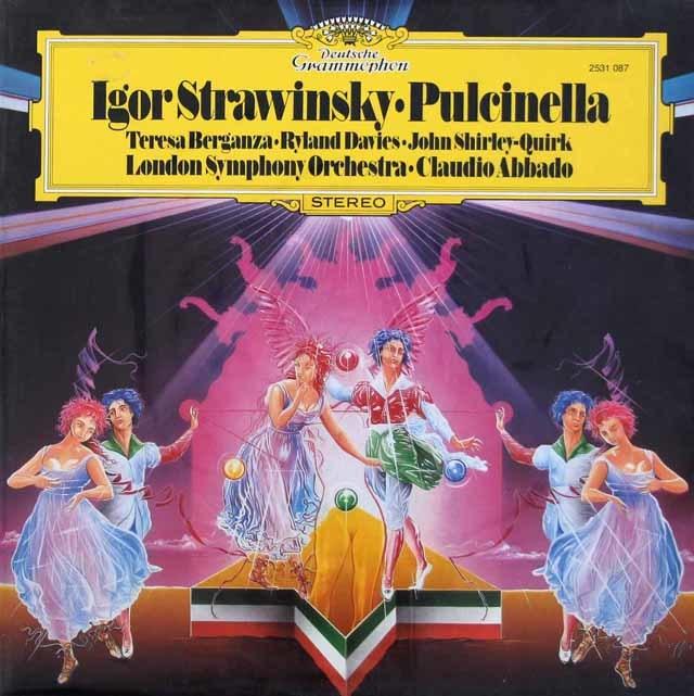 【未開封】 アバドのストラヴィンスキー/「プルチネルラ」  独DGG 3112 LP レコード