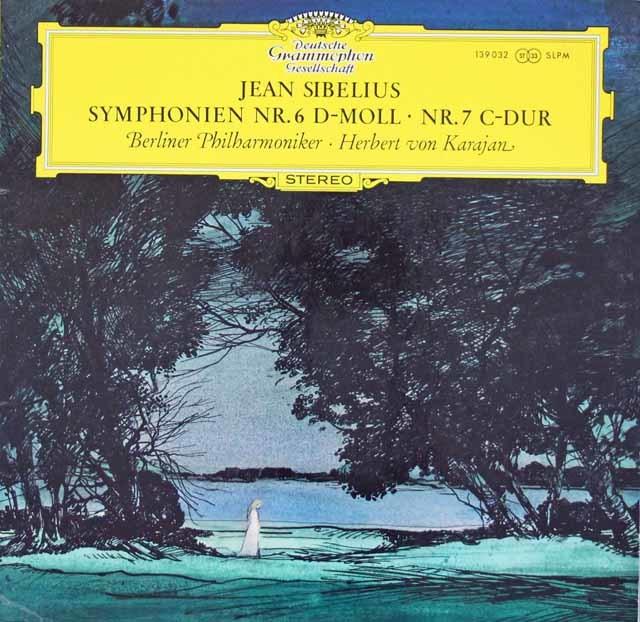 【オリジナル盤】カラヤンのシベリウス/交響曲第6&7番 独DGG 3112 LP レコード