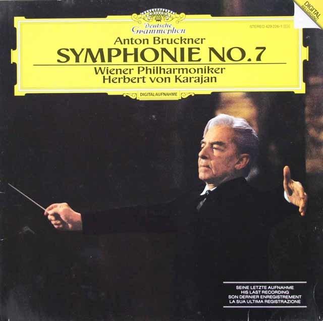 カラヤンのブルックナー/交響曲第7番 独DGG 3112 LP レコード