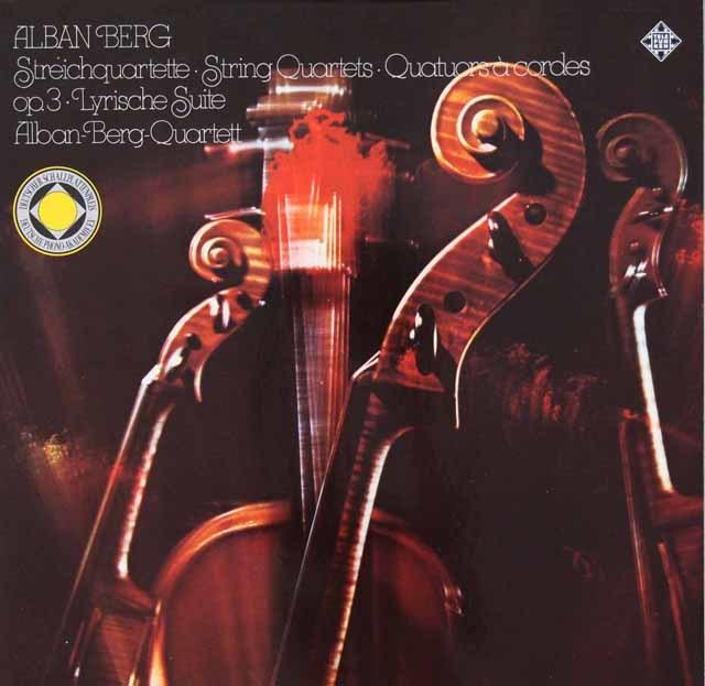 アルバン・ベルク四重奏団のベルク/弦楽四重奏曲ほか 独TELEFUNKEN 3112 LP レコード