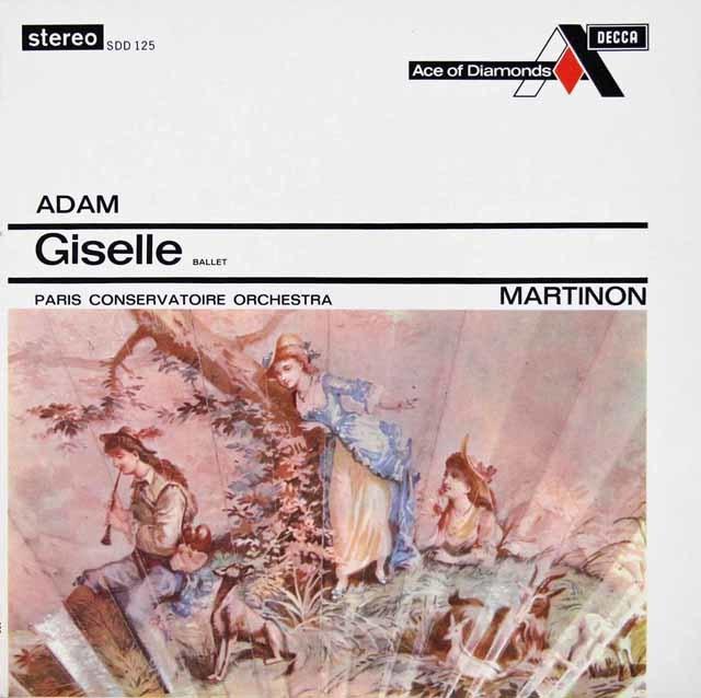 マルティノンのアダム/ジゼル 英Ace of Diamonds 3112 LP レコード