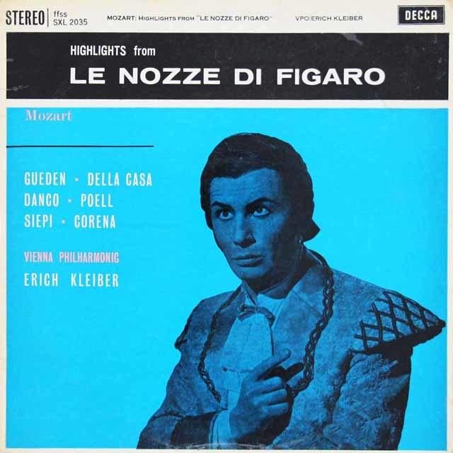 【オリジナル盤】エーリヒ・クライバーのモーツァルト/「フィガロの結婚」抜粋 英DECCA 3112 LP レコード
