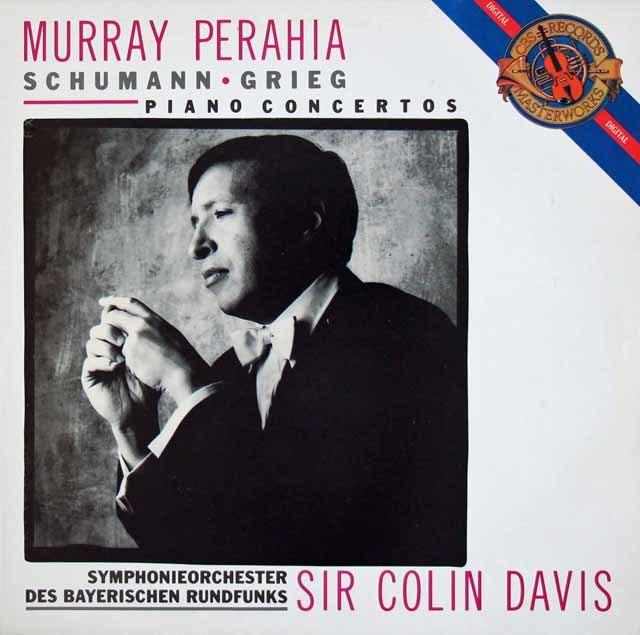 ペライア&デイヴィスのシューマン&グリーグ/ピアノ協奏曲集 蘭CBS 3112 LP レコード