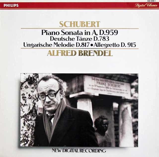ブレンデルのシューベルト/ピアノソナタ第20番ほか 蘭PHILIPS 3112 LP レコード