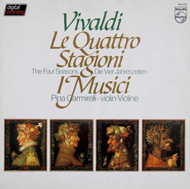 カルミレッリ&イ・ムジチ合奏団のヴィヴァルディ/「四季」 蘭PHILIPS 3112 LP レコード