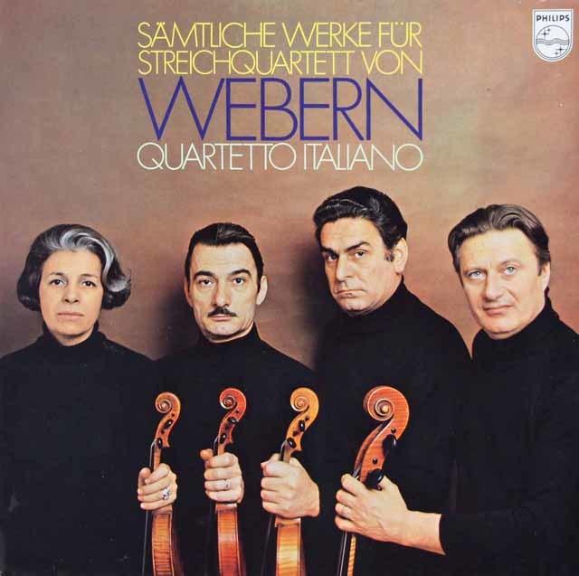 イタリア四重奏団のウェーベルン/弦楽四重奏曲集 蘭PHILIPS 3112 LP レコード