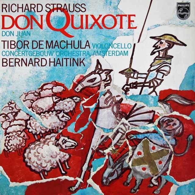 ハイティンクのR.シュトラウス/「ドン・キホーテ」&「ドン・ファン」 蘭PHILIPS 3112 LP レコード