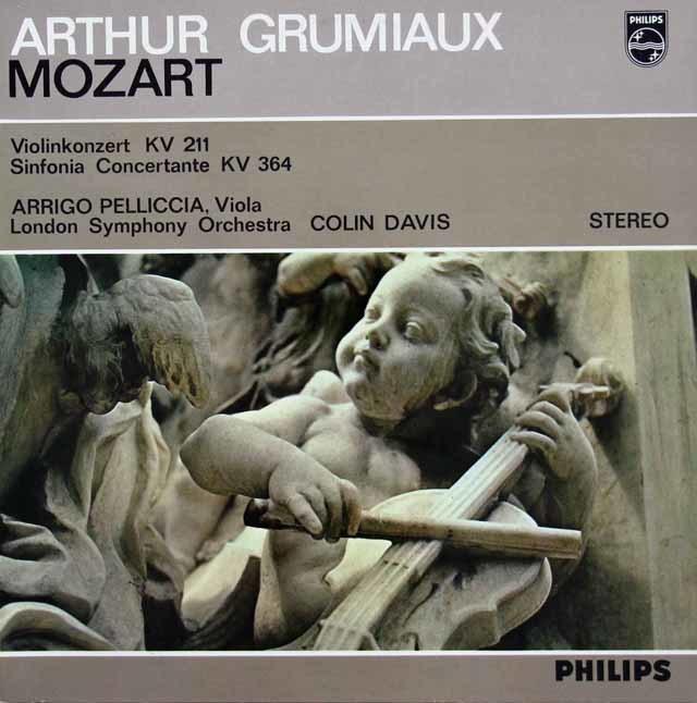 グリュミオー&デイヴィスのモーツァルト/ヴァイオリン協奏曲第2番ほか 蘭PHILIPS 3112 LP レコード