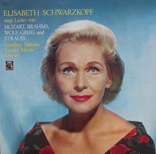 シュヴァルツコップのモーツァルト、ブラームスほか/歌曲集 独EMI 3112 LP レコード