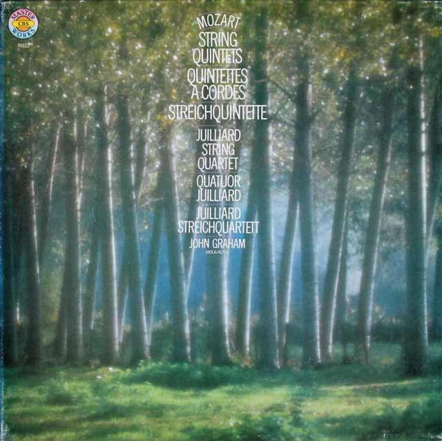 ジュリアード四重奏団&グラハムのモーツァルト/弦楽五重奏曲全集 独CBS 3112 LP レコード