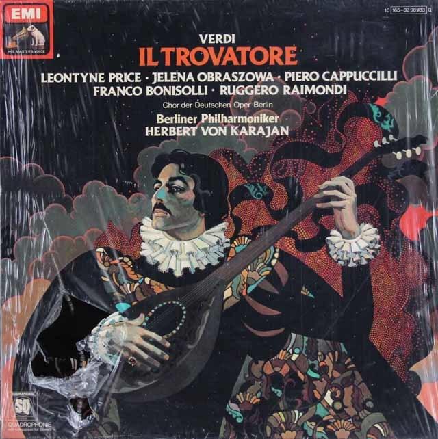 【未開封】 カラヤンのヴェルディ/「イル・トロヴァトーレ」全曲 独EMI 3112 LP レコード