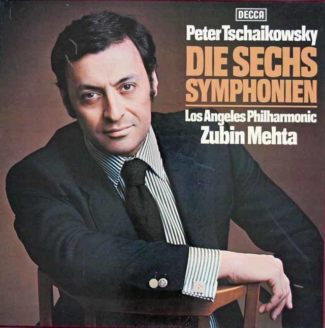 メータのチャイコフスキーのチャイコフスキー/交響曲全集(全6曲) 独DECCA 3112 LP レコード