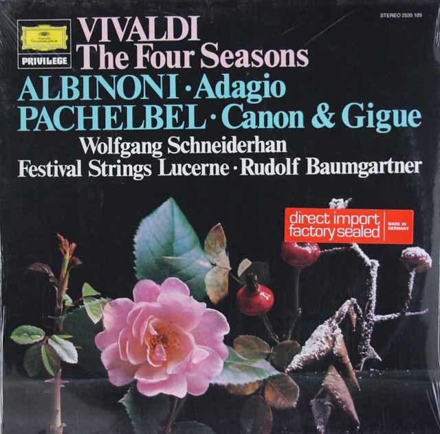 【未開封】シュナイダーハン&バウムガルトナーのヴィヴァルディ/「四季」ほか 独DGG 3113 LP レコード