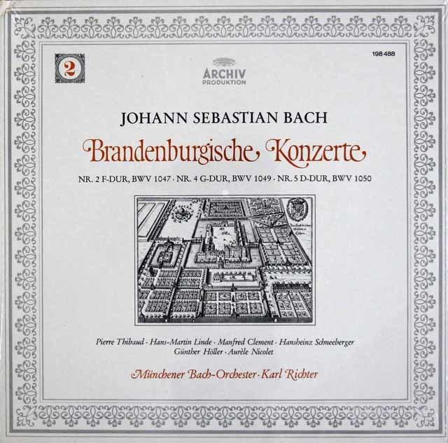 【未開封】リヒターのバッハ/ブランデンブルク協奏曲第2,4,5番  独ARCHIV 3113 LP レコード