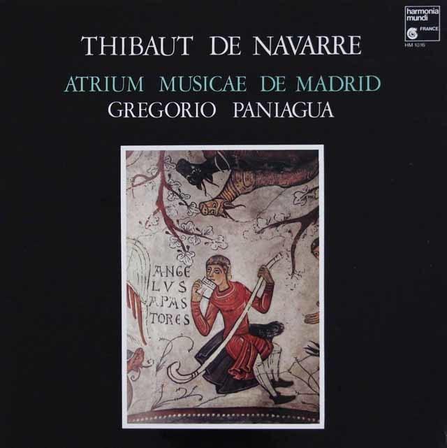 パニアグアのナバラ王のティボーの作品集 仏HM   3113 LP レコード