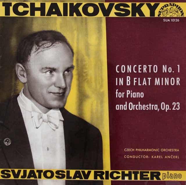 リヒテル&アンチェルのチャイコフスキー/ピアノ協奏曲第1番 チェコSUPRAPHON 3113 LP レコード