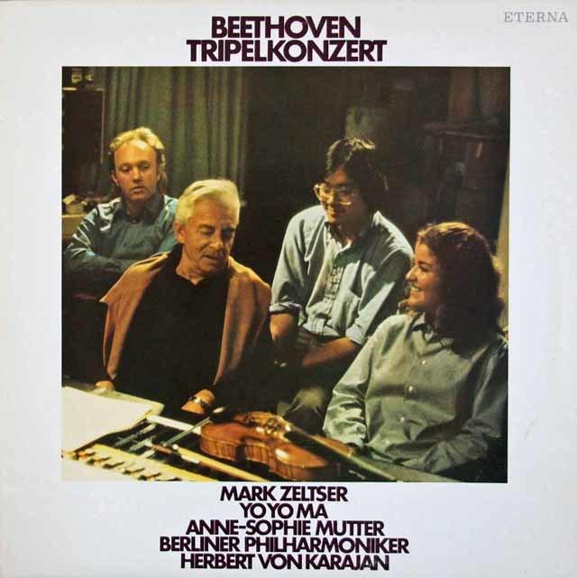 ムター、ゼルツァー、マ&カラヤンのベートーヴェン/三重協奏曲  独ETERNA 3113 LP レコード