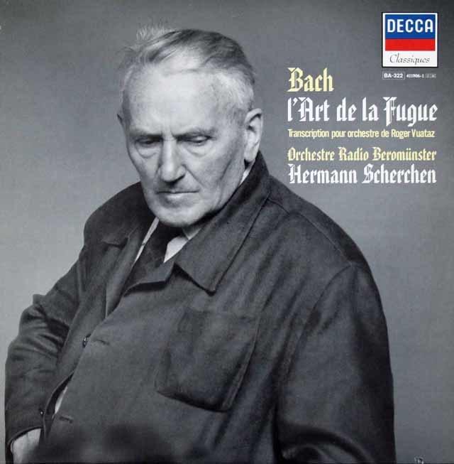 シェルヘンのバッハ/フーガの技法(管弦楽編曲版) 仏DECCA 3113 LP レコード