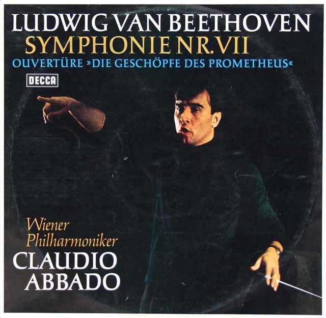 アバドのベートーヴェン/交響曲第7番ほか 独DECCA 3113 LP レコード