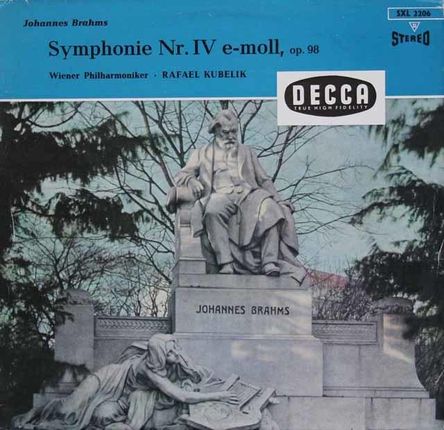 クーベリックのブラームス/交響曲第4番   独DECCA 3113 LP レコード