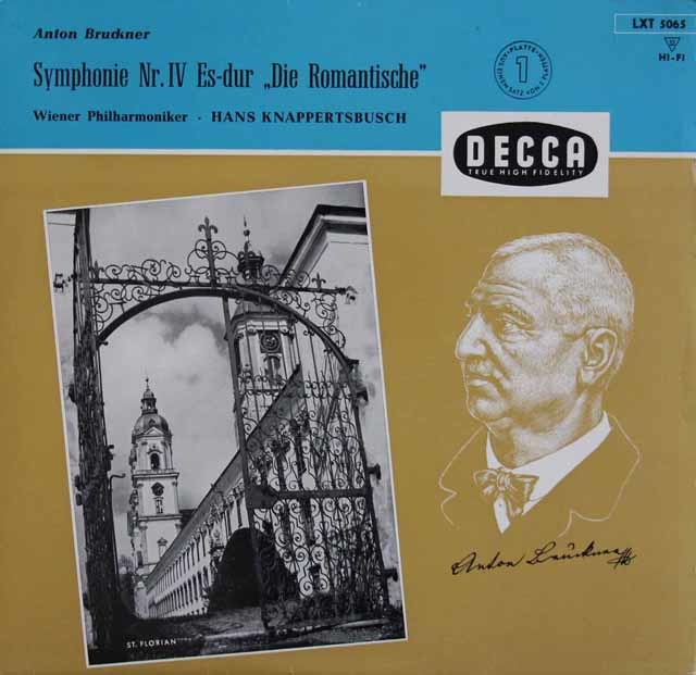 クナッパーツブッシュのブルックナー/交響曲第4番「ロマンティック」 独DECCA 3113 LP レコード
