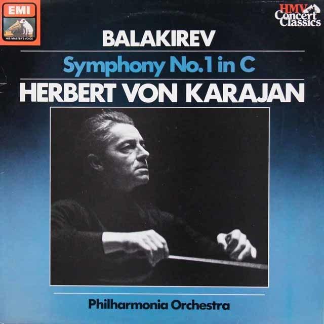 カラヤンのバラキレフ/交響曲第1番 英EMI 3113 LP レコード
