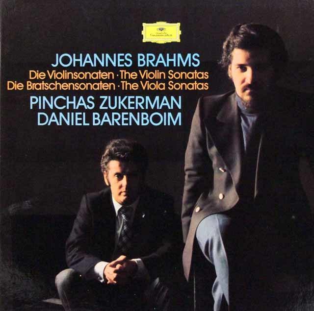 ズッカーマン&バレンボイムのブラームス/ヴァイオリン・ソナタ集  独DGG 3113 LP レコード