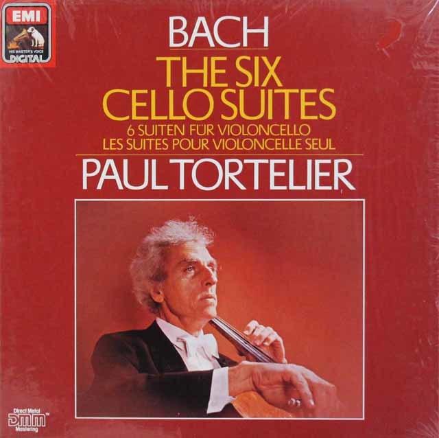 【未開封】トルトゥリエのバッハ/無伴奏チェロ組曲全6曲 独EMI 3113 LP レコード