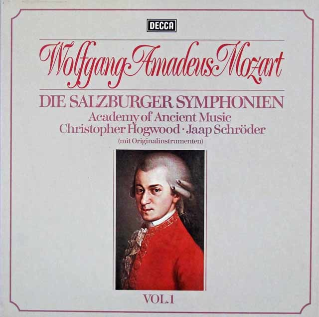 ホグウッドのモーツァルト/交響曲集  Vol.1 (ザルツブルク・1772~1773年) 独DECCA 3113 LP レコード
