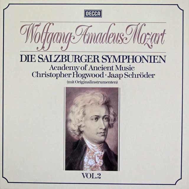 ホグウッドのモーツァルト/交響曲集  Vol.2 (ザルツブルク・1773~1775年) 独DECCA 3113 LP レコード