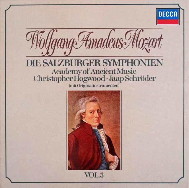 ホグウッドのモーツァルト/交響曲集  Vol.3 (ザルツブルク・1766~1772年) 独DECCA 3113 LP レコード