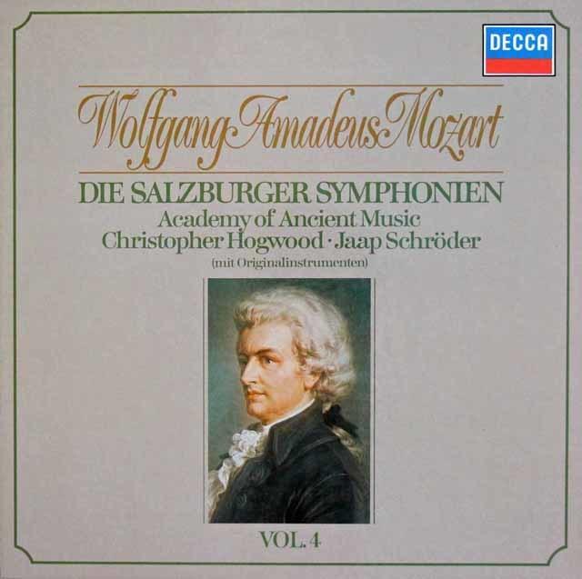 ホグウッドのモーツァルト/交響曲集  Vol.4 (ザルツブルク・1775~1785年) 独DECCA 3113 LP レコード