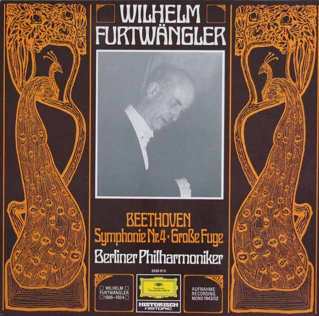 フルトヴェングラーのベートーヴェン/交響曲第4番ほか 独DGG 3114 LP レコード