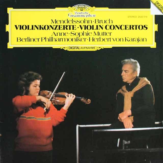 ムター&カラヤンのメンデルスゾーン&ブルッフ/ヴァイオリン協奏曲 独DGG 3114 LP レコード