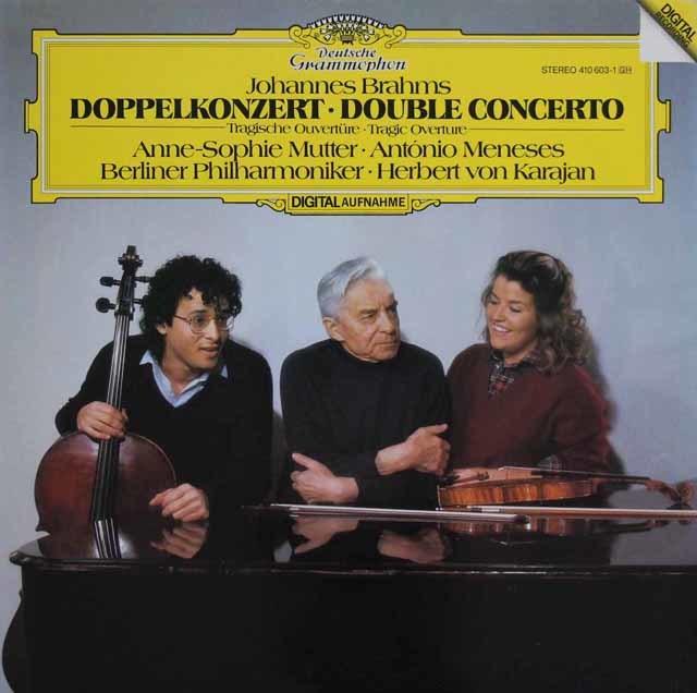 ムター、メネセス&カラヤンのブラームス/ヴァイオリンとチェロのための二重協奏曲ほか 独DGG 3114 LP レコード