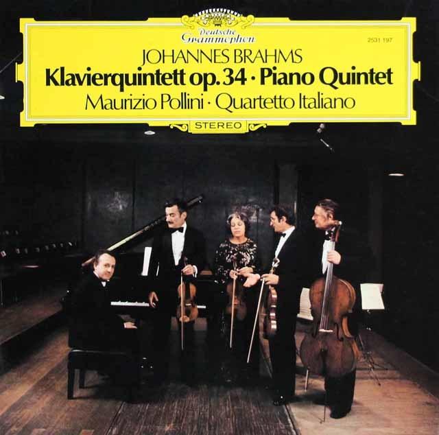 ポリーニ&イタリア四重奏団のブラームス/ピアノ五重奏曲 独DGG 3114 LP レコード