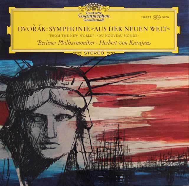 【独最初期盤】 カラヤンのドヴォルザーク/交響曲第9番「新世界より」 独DGG 3114 LP レコード